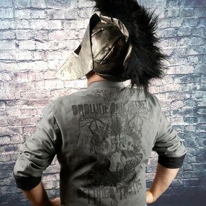 Guess Grey Graffiti Casual Jacket XL